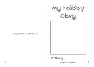2 week holiday diary writing frame sb4671 sparklebox