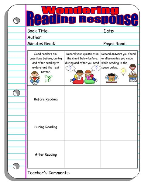 Reading Response Worksheets by Reading Response Forms And Graphic Organizers Scholastic