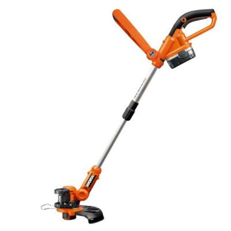 worx 10 in 18 volt ni cd shaft cordless grass trimmer