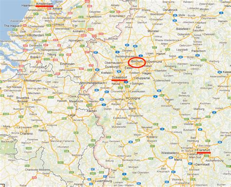 map of bochum germany pin maps of frankfurt on
