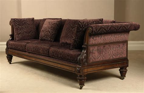 antique settee sofa antique regency period rosewood settee sofa probably