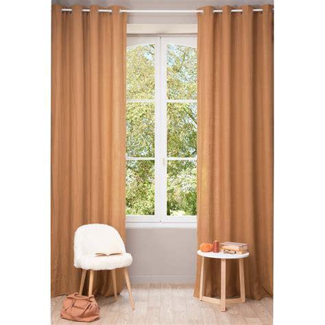 orange linen curtains washed linen eyelet curtain in fox orange 130 x 300cm