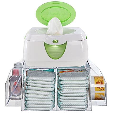 Change Table Caddy Deluxe Clear Acrylic Baby Changing Table Top Diapers Accessories Storage Caddy Baby Wipe