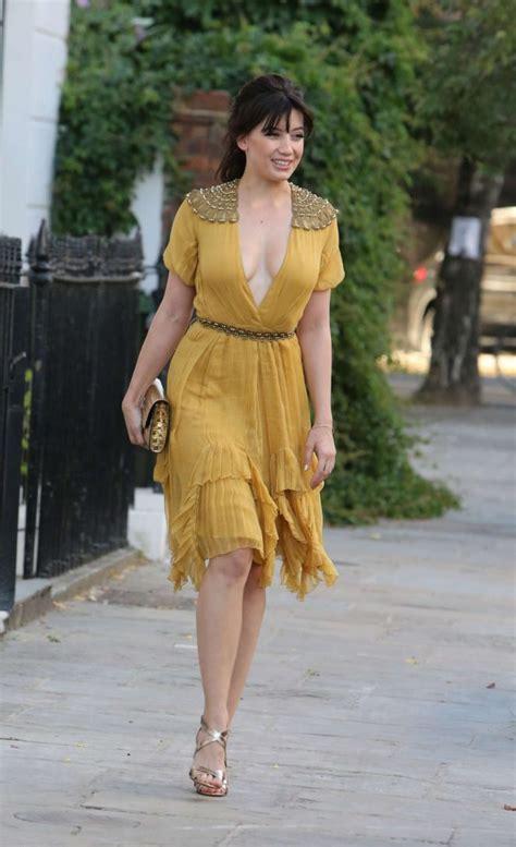Dress Disy lowe in yellow dress 15 gotceleb