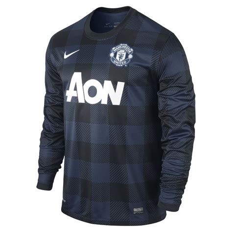 Manchester United Away 2012 Longsleeve nike manchester united sleeve away jersey 13 14
