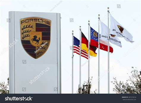 porsche atlanta headquarters address atlanta ga august 2015 sign and flags in front of the