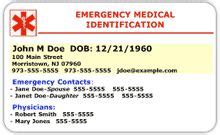diabetic id card template free printable appreciation card an lehrer