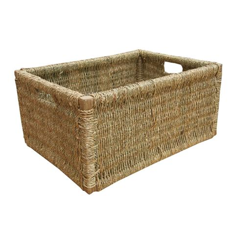 buy seagrass rectangular storage basket online from the
