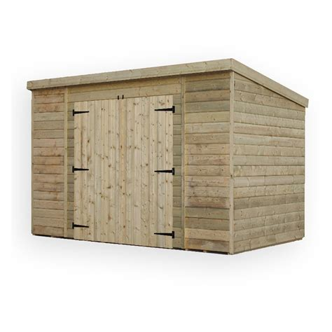10 X 6 Pent Shed by 10 X 6 Pressure Treated Windowless Tongue And Groove Pent