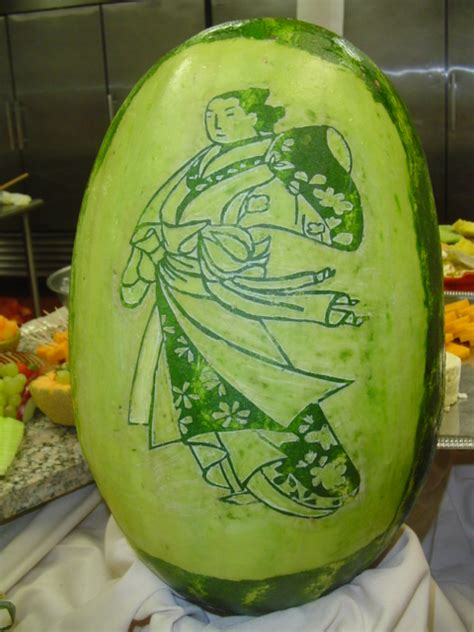 watermelon carving by zpdali on deviantart
