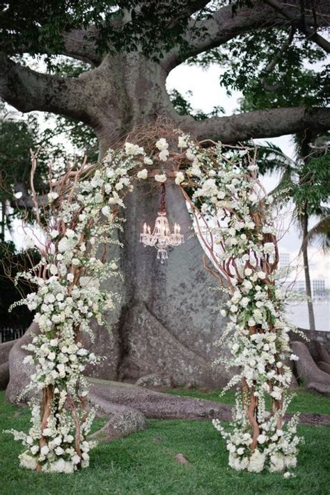 Wedding Arch Chandelier A Floral Arch And A Chandelier Weddings Pinterest
