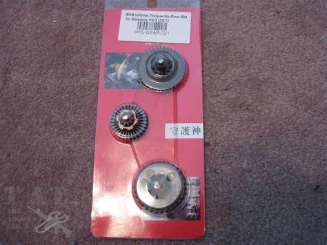 Shs Gearset High Torque 321 shs infinate torque up 32 1 gearset the airsoft lab