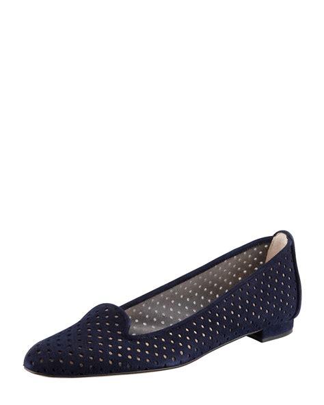Sepatu Flat R 25 Suede lyst manolo blahnik sharifac perforated suede flat navy