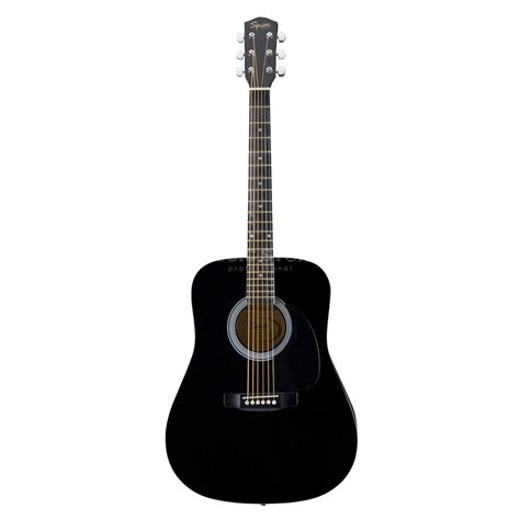 Guitar Black fender squier sa105 acoustic guitar black