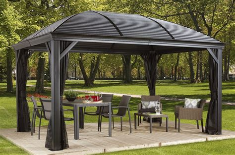 pavillon metall 3x4 sojag moreno aluminum permanent gazebo reviews wayfair