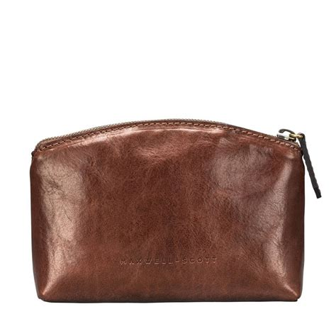 Handcrafted Leather Bag - handcrafted leather cosmetic makeup bag chia by maxwell