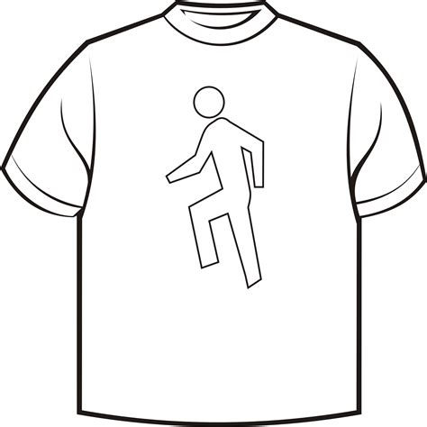 Drawing T Shirt Outline by Tshirt Cake Template Clipart Best