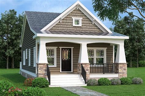 two house 2 bed bungalow house plan with vaulted family room