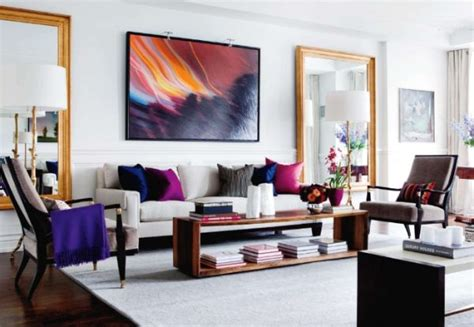 Living Room Abstract by How To Use Abstract Wall In Your Home Without