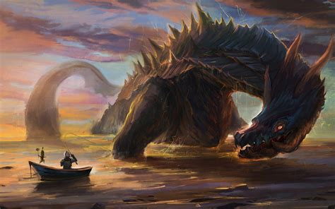 film giant monster in the sea sea monster wallpapers wallpaper cave