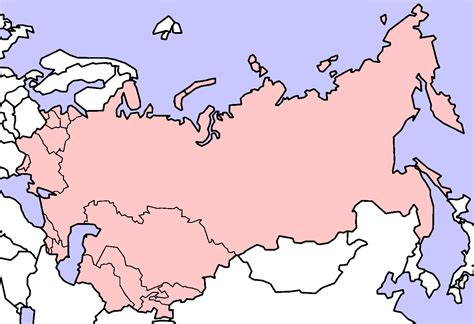 russian domain map blank map former soviet union