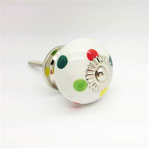 Polka Dot Drawer Knobs by Multi Coloured Polka Dot Cupboard Knob Drawer Handle By