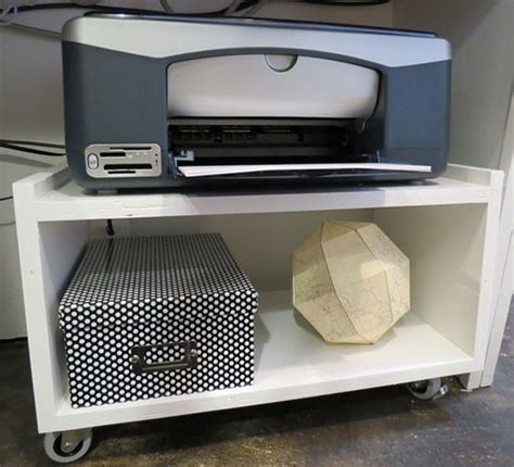 printer storage ideas simple we and printer cart on pinterest