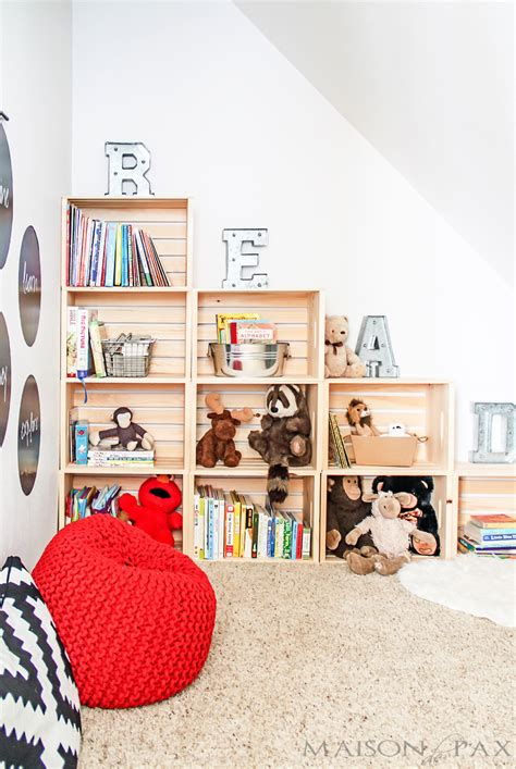 Room To Play Book by Diy Crate Bookcase