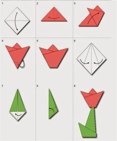 gambar cara membuat bunga tulip dari kertas origami cara membuat origami bunga rame pengunjung