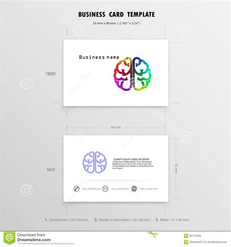 upload image business card template page abstract creative business cards design template stock