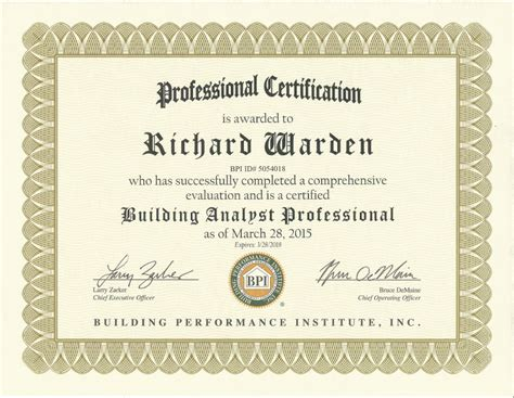 degree certificates southton home inspections