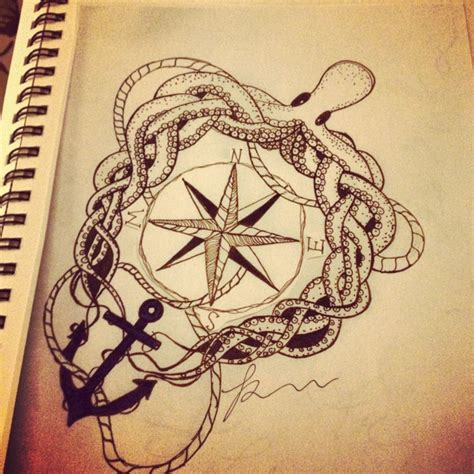 octopus anchor tattoo octopus and anchor design pretty tattoos