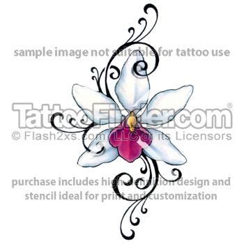 orchid design tattoo pinterest