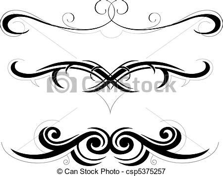 tribal art illustration set of decorative shapes vectors