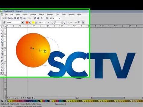 Tutorial Corel Draw Sctv | tutorial membuat logo sctv corel draw x4 mudah diikuti