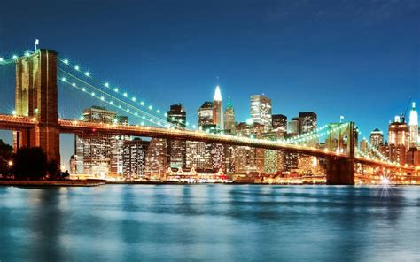 New York City Night Lights Wallpaper 3840x2160 New York City Lights