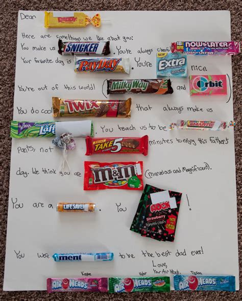 Letter Using Chocolate Bars Bar Letter Tips Bits Of Everything
