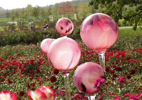 Gartendeko Aus Glas by Gartendeko Gartendekoration Glaskugeln Rosenkugeln Lila