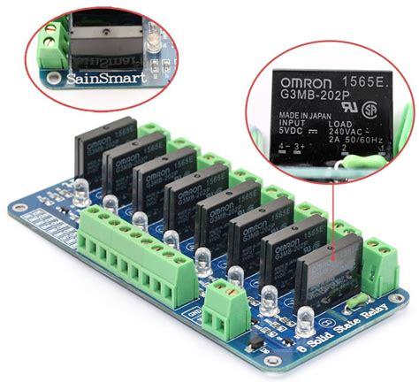Sainsmart 8 Channel Relay Module 8 channel 5v solid state relay module board omron ssr 4 pic arm avr dsp arduino 3d printing