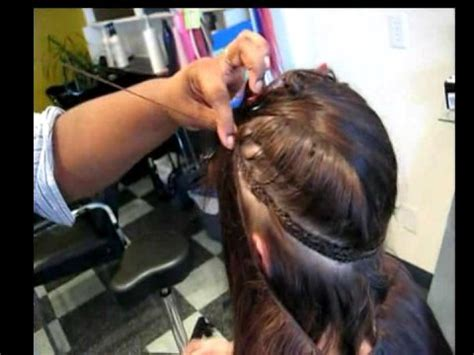 how to put in a hair extension weaving hair extensions