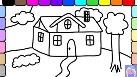 how to color a house house drawings for kids to color free printable house