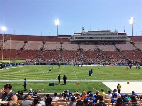 what is section 23 los angeles memorial coliseum section 23 rateyourseats com