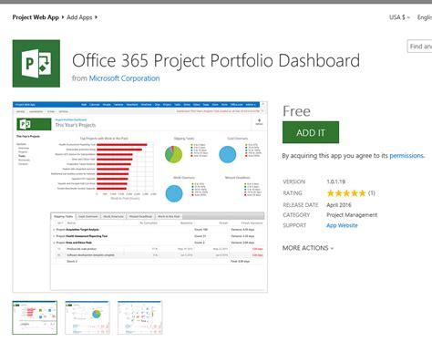 microsoft office portfolio template new release office365 project portfolio dashboard