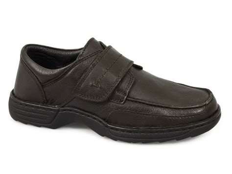 wide shoes roamers mens leather velcro wide comfort anitfungal