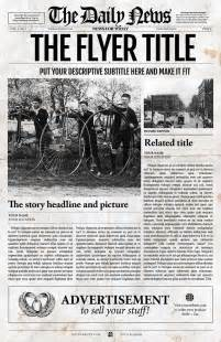 newspaper indesign template indesign newspaper template front flyer templates on