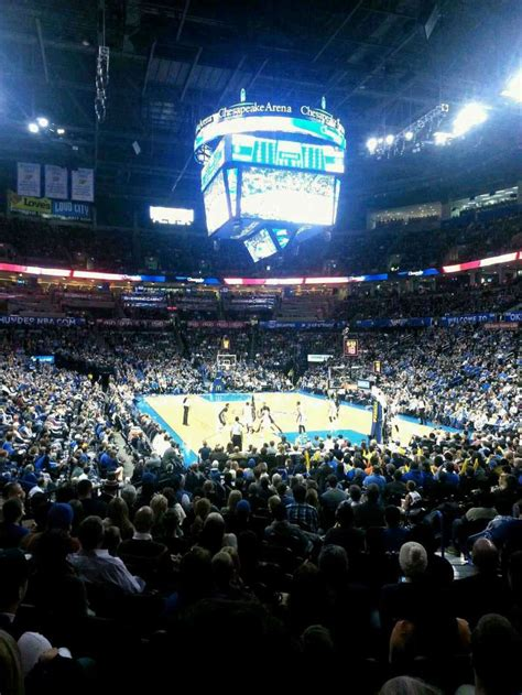 chesapeake energy arena section  home  oklahoma city thunder