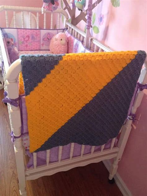 crochet crib size baby blanket by thewoolysheppard on etsy