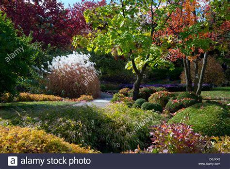 montreal botanical gardens autumn foliage in the montreal botanical garden montreal