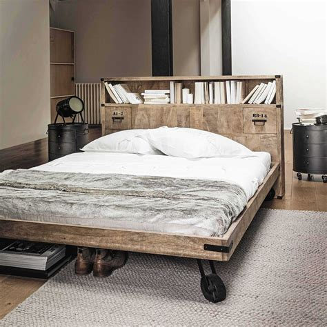 Le Bett Kopfteil by Bett Kopfteil Aus Massivem Mangoholz Mit Ablagen B 140 Cm