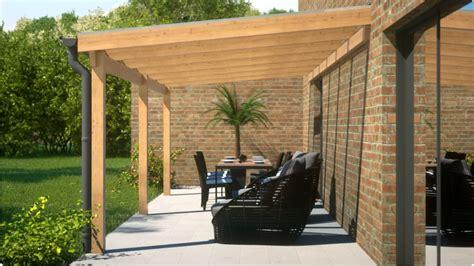 terrasse vordach holz anbau terrassendach aus holz